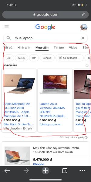 từ khóa lên google