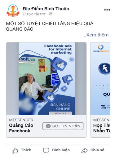 vị trí bản tin facebook